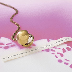 Vintage Orb Locket Necklace - gifts under £25