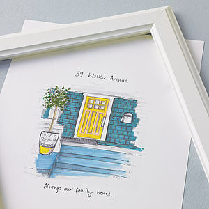 Personalised Front Door Sketch - mother's day gifts