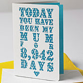 Personalised Days You've Been My Mum Card - mother's day