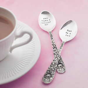 Personalised Silver Plated Tea Spoon - romantic breakfast