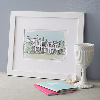 Personalised Wedding Venue Gift Portrait