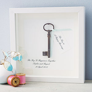 'Key To A Happy Marriage' Artwork - wedding gifts