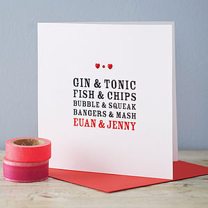 Personalised Perfect Together Card - valentine's cards