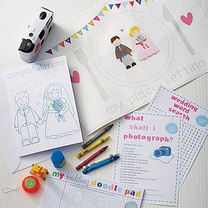 Child's Wedding Activity Box - wedding day finishing touches