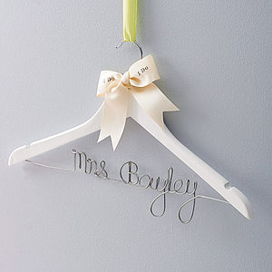 Personalised Wedding Dress Hanger - the morning of the big day