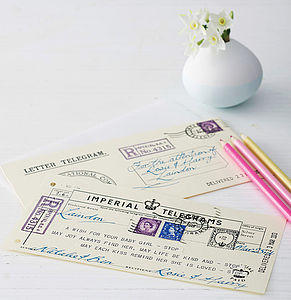 New Baby Telegram Keepsake - cards