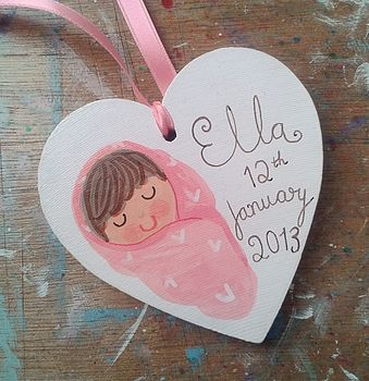 New Baby Girl Gift Tag Decoration