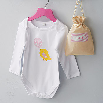 Personalised Baby Grow And Card Gift Set
