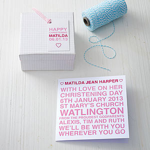 Personalised Christening Card - original christening gifts