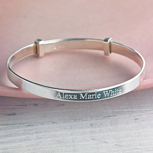 Child's Silver Expanding Bangle - last-minute gifts