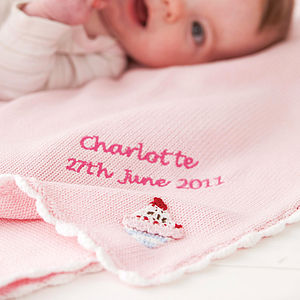Personalised Cotton Baby Blanket - christening gifts