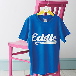 Personalised Child's Name T Shirt - top 100 gifts for children