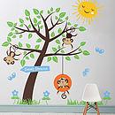 Children's Monkey Tree Wall Stickers