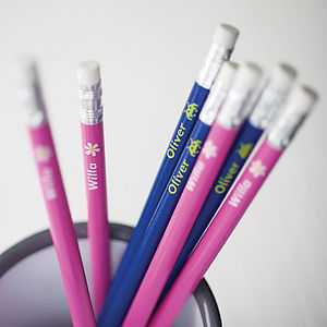 Set Of 12 Personalised Pencils - back to school