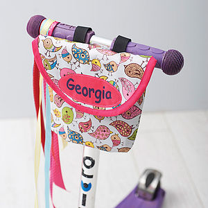 Child's Bird Print Handlebar Bag - personalised gifts