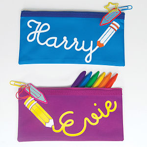 Personalised Name Pencil Case - stocking fillers under £15