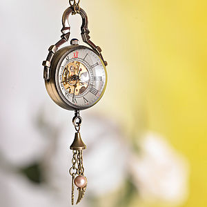 Vintage Style Pocket Watch Necklace - for friends