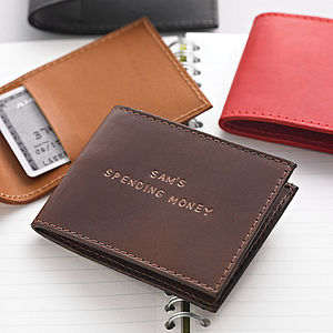 Personalised Leather Card Holder - wallets