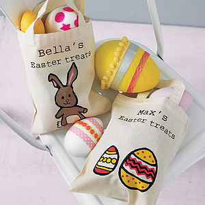 Personalised Easter Egg Hunt Bag - ribbon & wrap