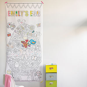 Personalised Colour In Easter Poster - baby's room