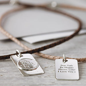 St Christopher Necklace - for him