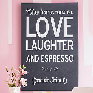 Personalised Chalkboard Name Print - gifts for mothers