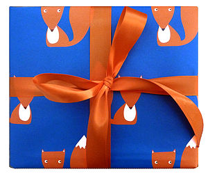 Fox Repeat Print Wrapping Paper - shop by category