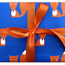 Fox Repeat Print Wrapping Paper