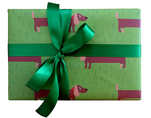 Sausage Dog Print Wrapping Paper - pet-lover
