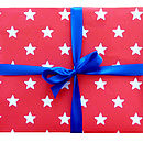 Red Star Print Wrapping Paper
