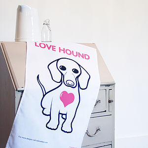 'Love Hound' Tea Towel - kitchen accessories