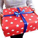 Red And White Star Wrapping Paper
