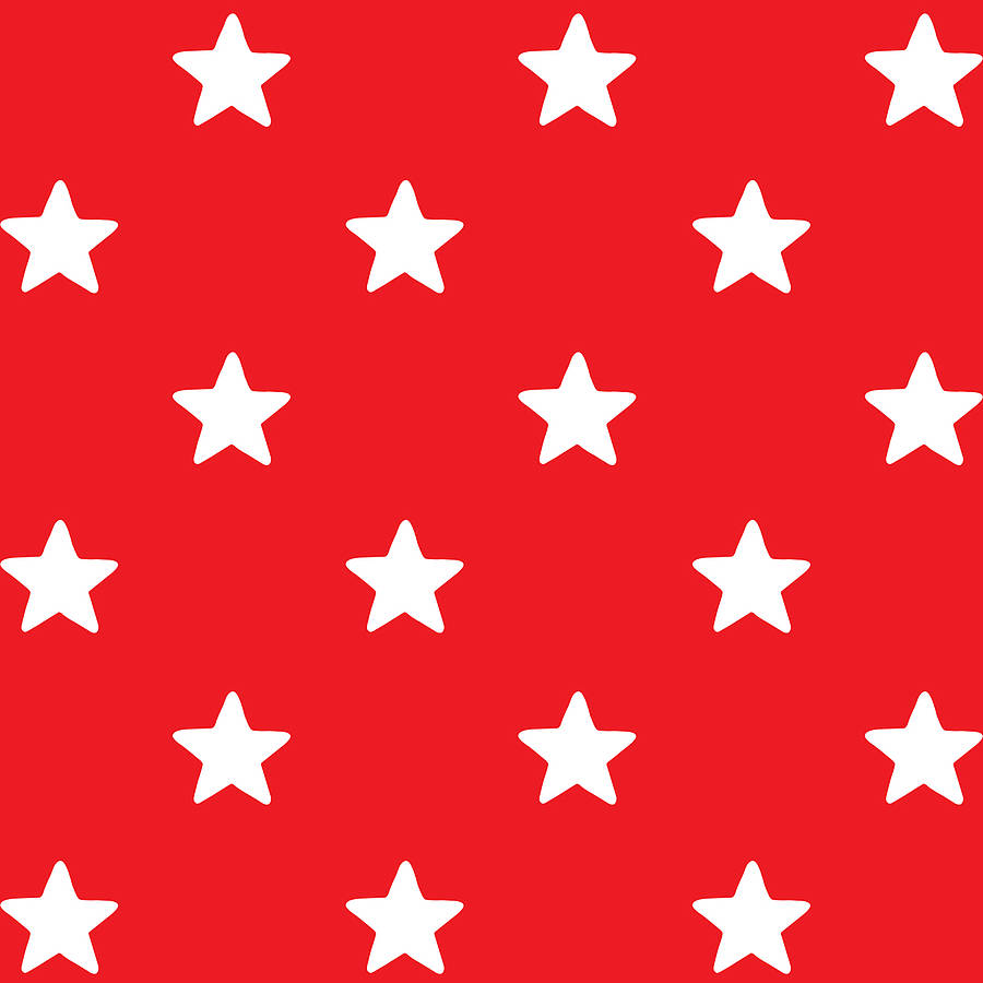 red star print wrapping paper by toby tiger | notonthehighstreet.com