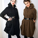 Parka Style Belted Coat
