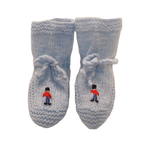 Cashmere Soldiers Baby Booties - clothing