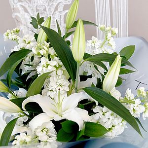 Classic Bouquet Of Lilies - flowers, plants & trees