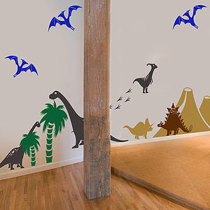 Dinosaur Wall Sticker Pack - decorative accessories
