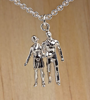 Silver Love Couple Necklace
