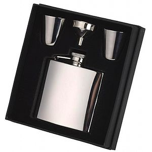 Hip Flask, Funnel And Shot Glasses Gift Set - alfresco dining