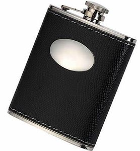 Leather Hip Flask With Funnel - alfresco dining