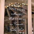 'Love Story' Wall And Window Sticker