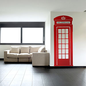British Telephone Box Wall Sticker - children's room accessories