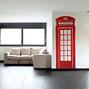 British Telephone Box Wall Sticker