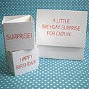 Personalised Popping Birthday Card