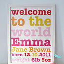 Personalised Girl's Wording Art Print