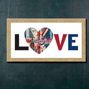 Love London Heart Print