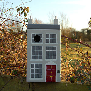 Personalised Georgian House Bird Box - gardener