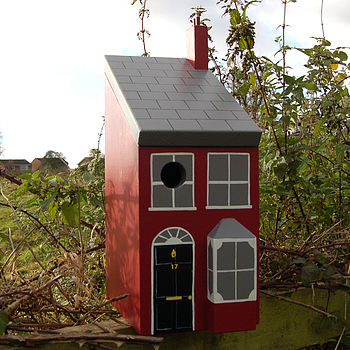 Victorian House Personalised Bird Box
