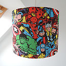Superhero Fabric Lampshade