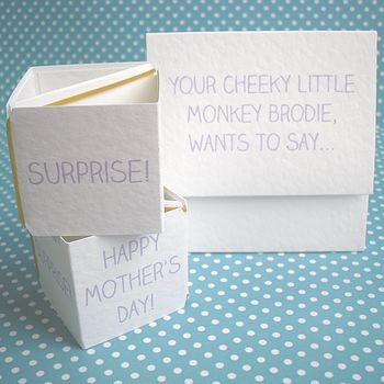 Personalised 'Cheeky Monkey' Popping Card